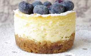 Cheesecake myrtille individuel