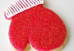 Biscuits décorés en forme de moufles