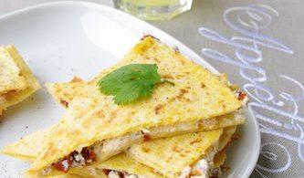 Quesadillas tomates confites, une spécialité mexicaine au fromage | I Love Cakes
