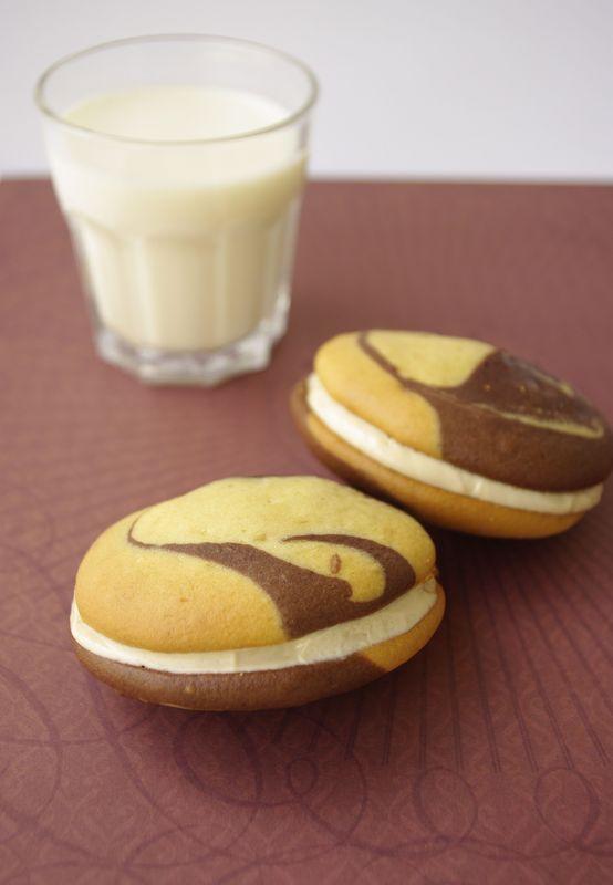 Whoopie pies chocolat et beurre de cacahuètes