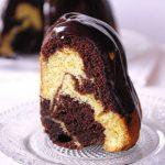 L'intérieur du marbré chocolat orange et Cointreau