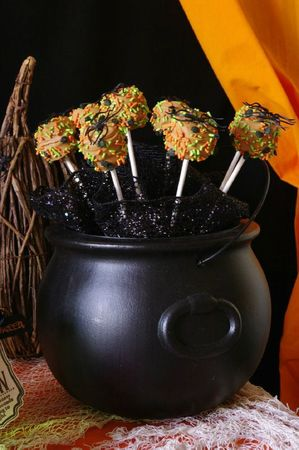 Sucettes marshmallow pour Halloween