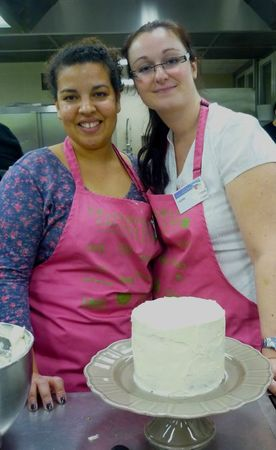 Mélanie et moi au Salon du blog culinaire