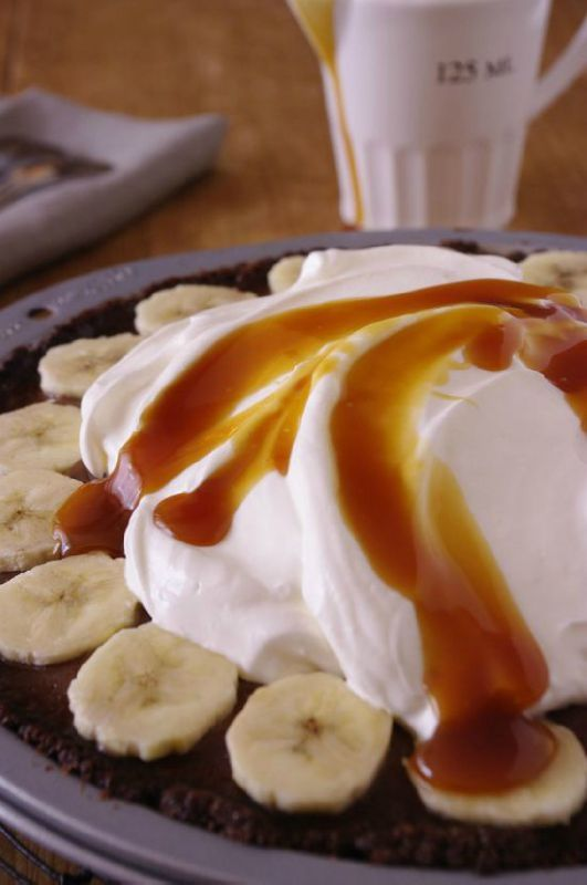 Banoffee pie au chocolat, banane et caramel