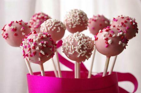 Cake pops avec sprinkles