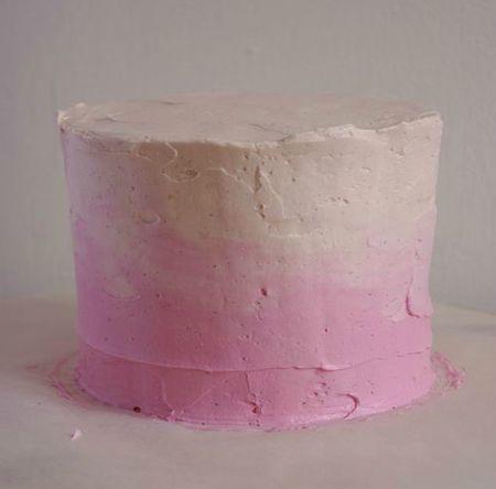 Glaçage d'un layer cake avec CBMS