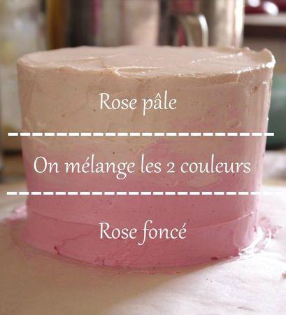 Dégradé pink ombre cake