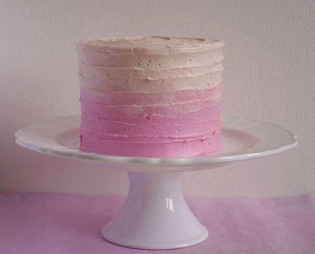 Ombre cake décoré en spirale