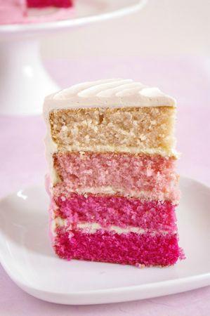 Dégradé de couleurs du pink ombre cake