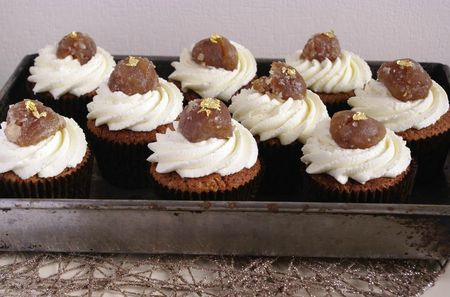 Cupcakes marrons glacés et chantilly vanille