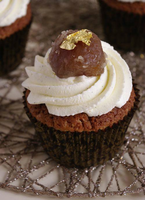Cupcakes avec chantilly mascarpone vanille