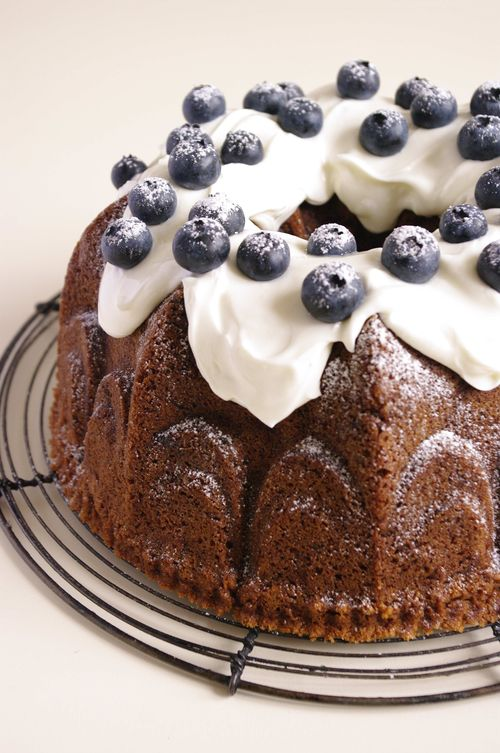 Bundt cake myrtille