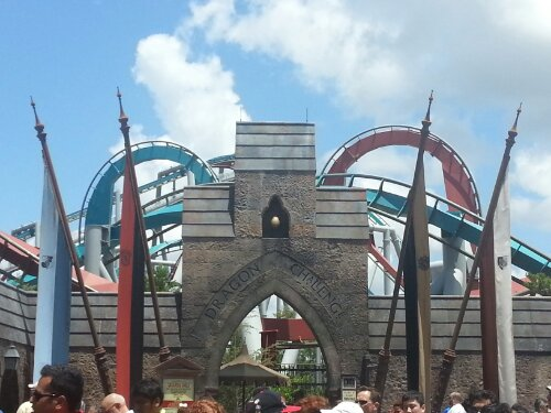 Islands of Adventure Harry Potter Dragon's challenge