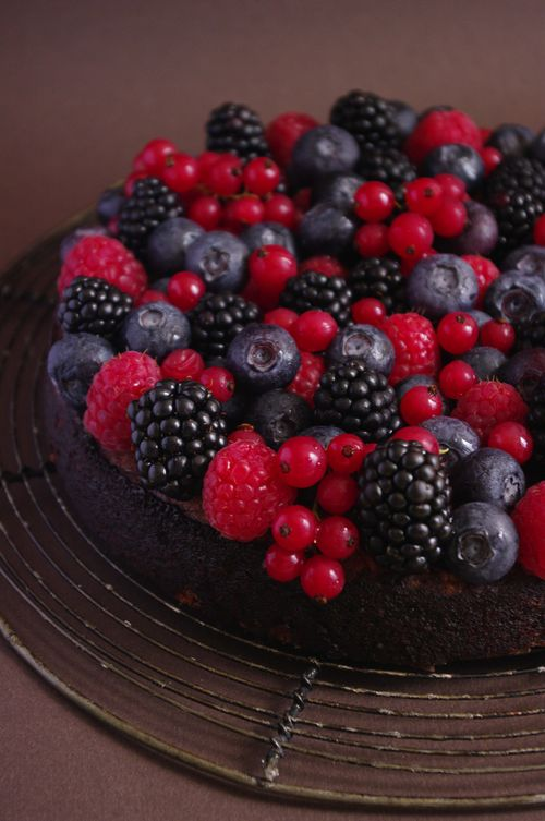Fondant chocolat fruits rouges