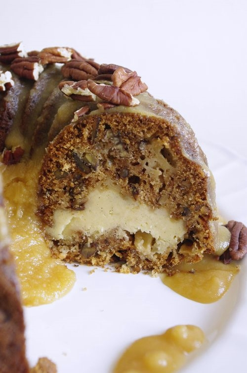 Gâteau pommes épices coeur de Philadelphia