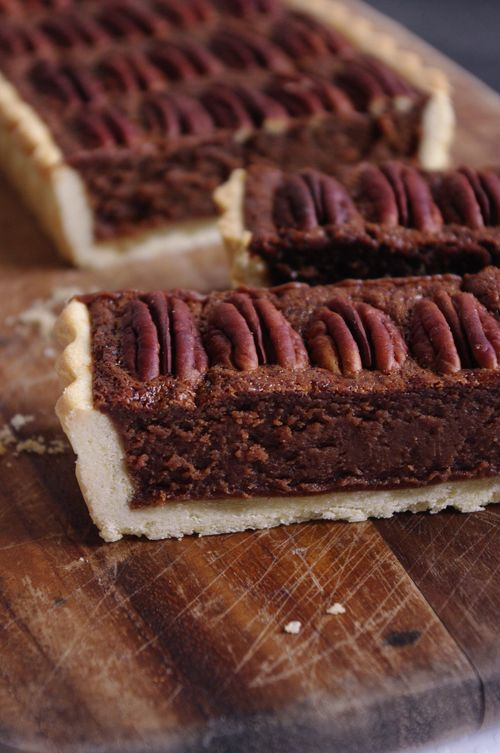 tarte chocolat noix de p can i love cakes. Black Bedroom Furniture Sets. Home Design Ideas