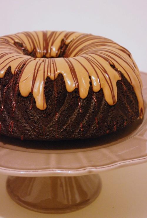 Bundt cake chocolat cacahuètes