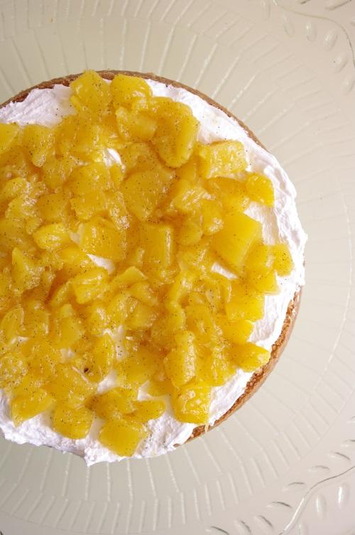 Ananas vanille flambé au Malibu