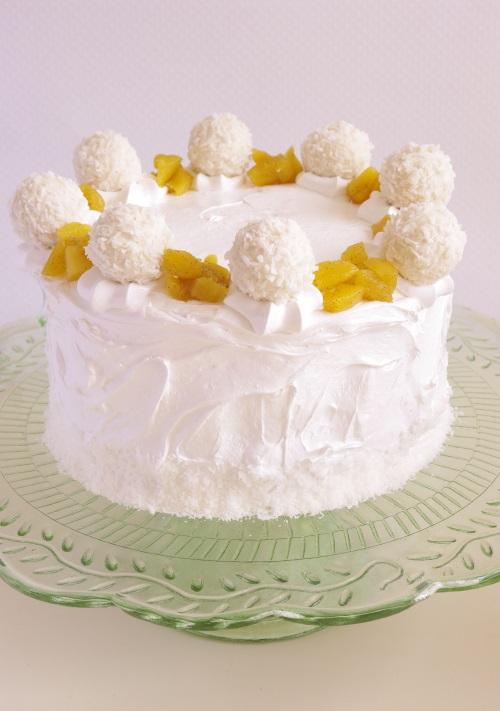 Layer cake pina colada parfum ananas rhum coco
