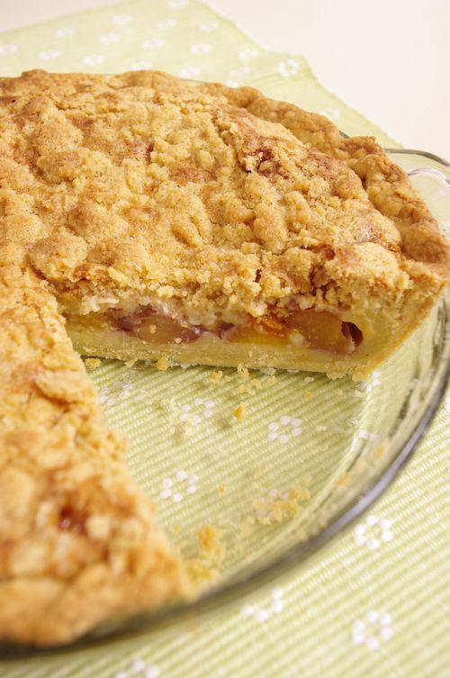 Pie pêche abricot avec crumble à la vanille