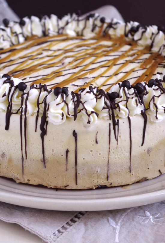 Ice cream cake vanille caramel