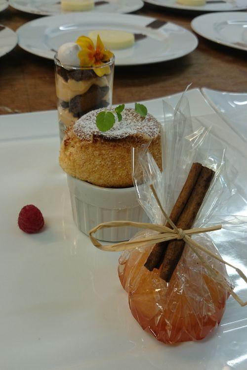 Dessert à l'assiette Autour de la clémentine, Château de la Commanderie
