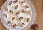Cheesecake avec un bon goût de Snickers