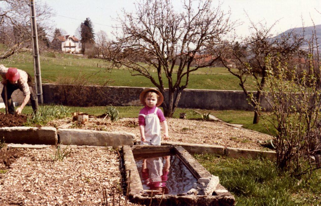 Papy et moi au jardin