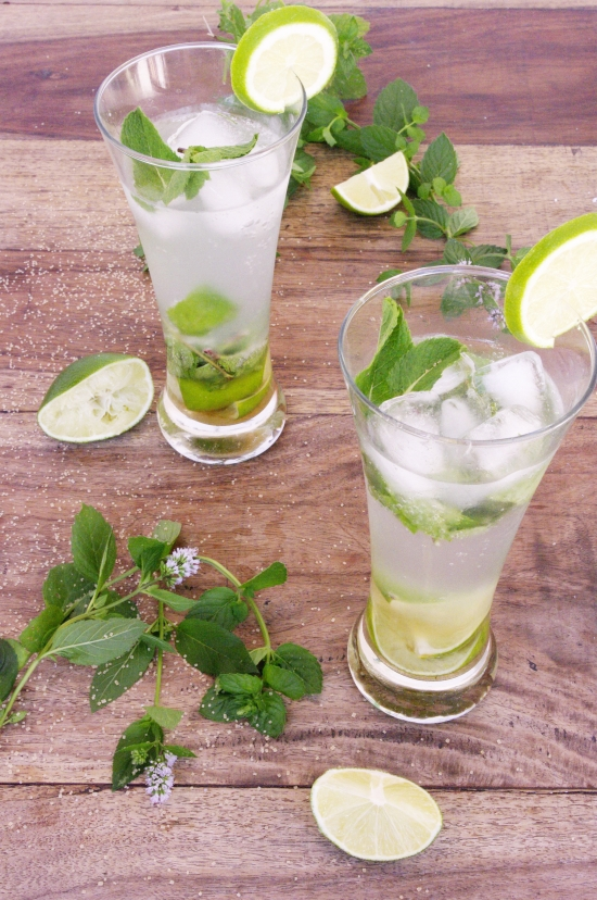 Cocktail mojito menthe rhum citron vert
