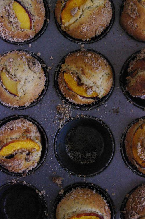 Muffins moelleux à la pêche