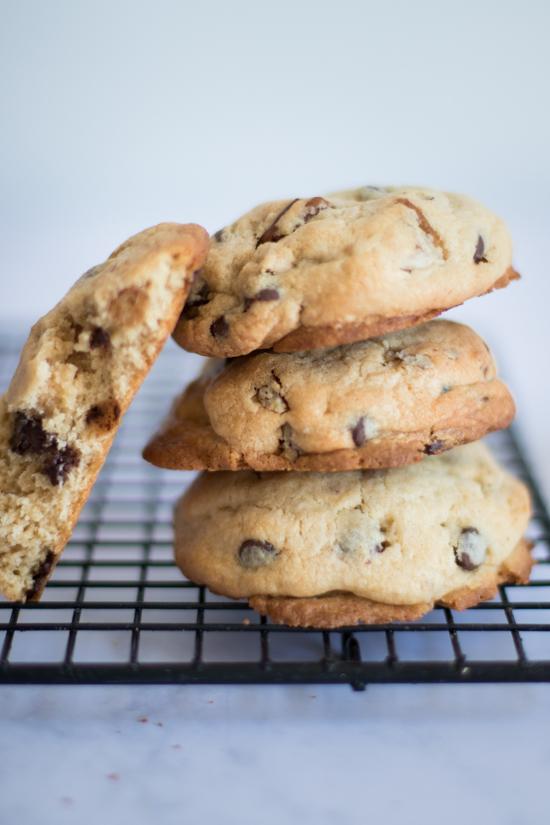 Pile de cookies chocolat pécan