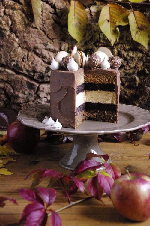 Layer cake pomme noisette