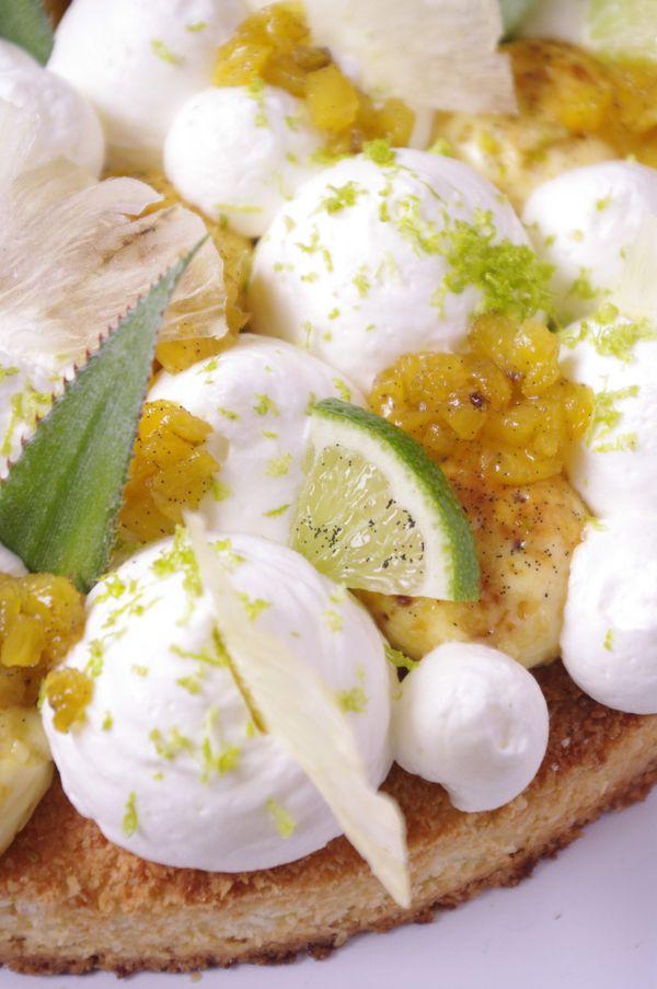 Le jeu des textures de ce Fantastik exotik coco ananas