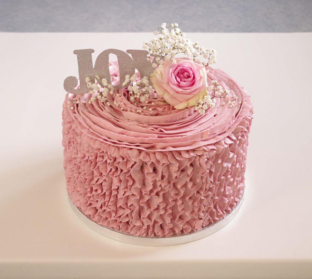 Ruffle cake à la framboise