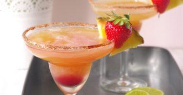 Margaritas ananas fraise basilic