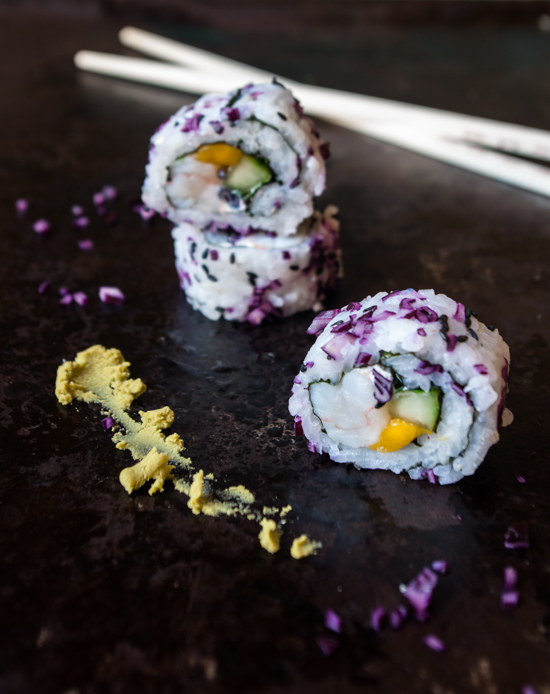 California rolls crevette mangue