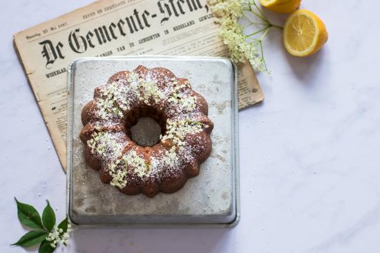 Un beau bundt cake citron sureau