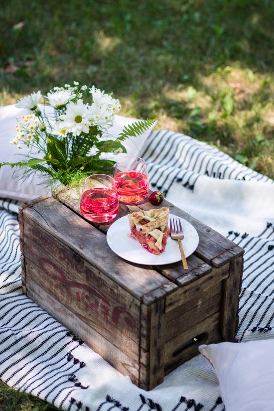 Cette pie pêche fraise c'est le parfait goûter d'été