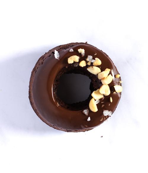 Donuts chocolat cacahuètes