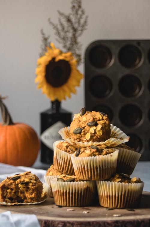 Muffins à la citrouille et graines de courge