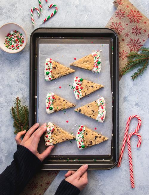 Shortbreads pour Noel aux cranberries et pistaches | I Love Cakes