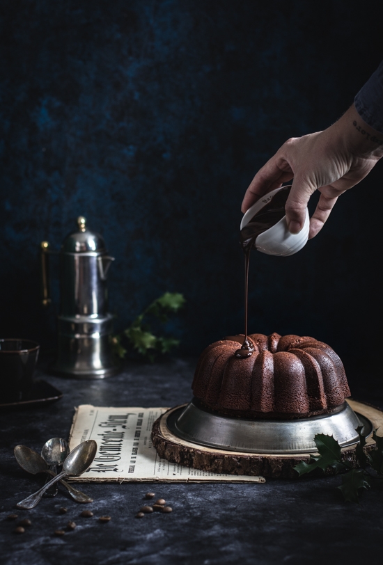 Bundt cake chocolat café et glaçage chocolat | I Love Cakes