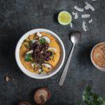 Soupe exotique à la butternut et riz coco
