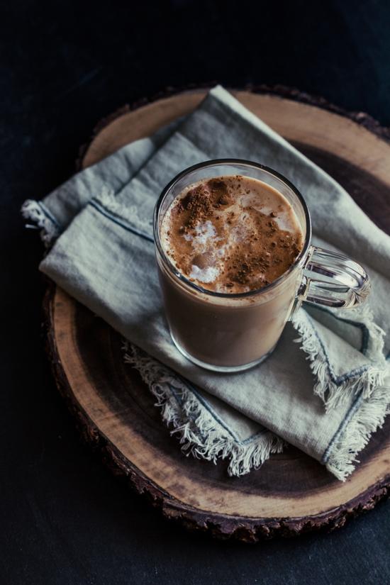 Latte cannelle et sirop d'érable