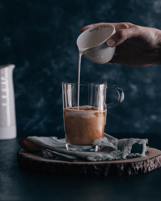 Latte érable et lait de soja