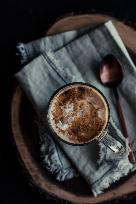 Café latte à l'érable