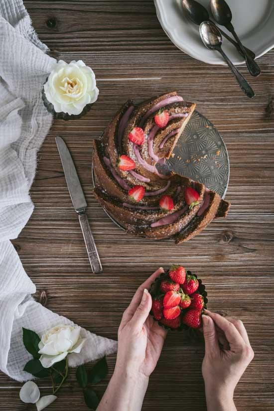 Gâteau printanier à la fraise
