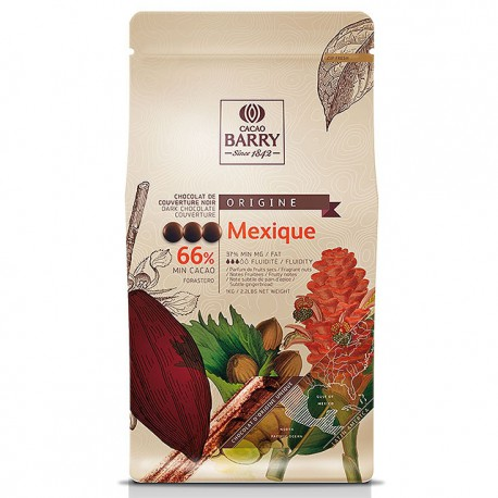 Paquet de chocolat noir Mexique 66% de chez Cacao Barry