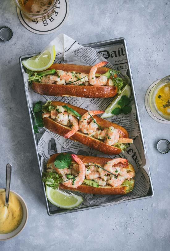 Sandwich crevettes comme un lobster roll