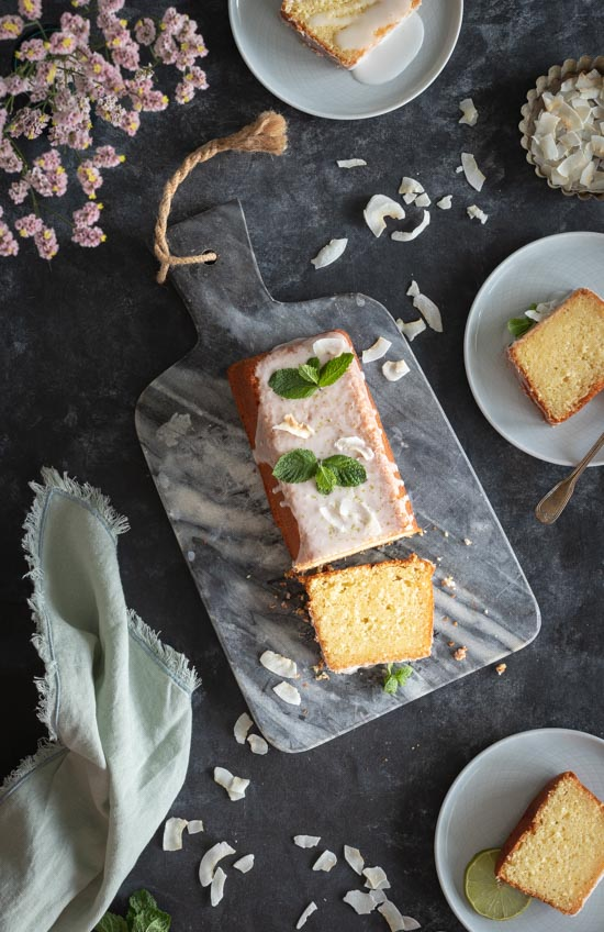 L'intérieur du cake coco citron vert